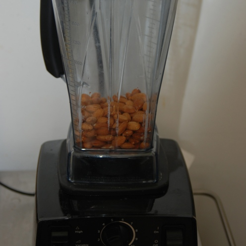 Raw, whole almonds