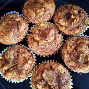 Carrot & Golden Raisin Muffins